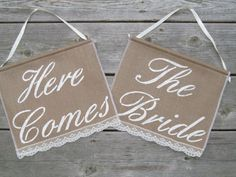 Here Comes The Bride signs  Two Ring Bearer by BridesandBellas