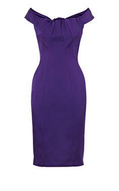 Karen Millen Solid Color Dresses Purple With Butterfly Tie Outle [karemillen 472] - €117.43 : Karen millen Dresses