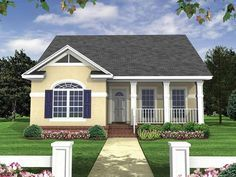 Eplans Bungalow House Plan - Formal Bungalow - 1100 Square Feet and 2 Bedrooms(s) from Eplans - House Plan Code HWEPL14062