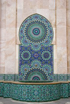 Mosaic fountain, Casablanca, Morocco