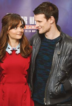 Jenna-Louise Coleman and Matt Smith. <-- THEYRE SO CUTE!!!! and matt, please, don't grow your hair out again! it looks so beautiful short!
