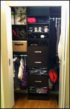 An After Shot From Our Blog. Click To See The Before Shot And Some Info ·  Entry ClosetCalifornia ...