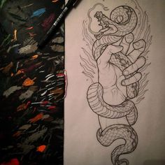 how to draw animal Sketch Tattoo Design, Tattoo Sketches, Tattoo Drawings, Art Sketches, Tattoo Designs, Forarm Tattoos, Body Art Tattoos, Cool Tattoos, Tattoo Snake