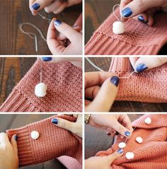 Pompom sweater (diy) - Ponponlu kazak yapımı