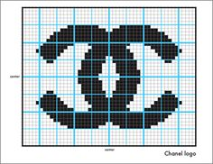 Knit Chanel Logo-The Counterfeit Crochet Project Cross Stitch Quotes, Cross Stitch Boards, Cross Stitch Art, Cross Stitch Designs, Cross Stitch Patterns, Chanel Logo, Knitting Paterns, Knitting Charts, Fendi