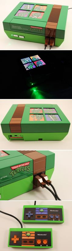 Not an xbox mod but so vool if you ever played the old game...well done TMNT Custom NES Console