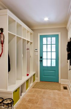 paint the inside of a door for a pop of color