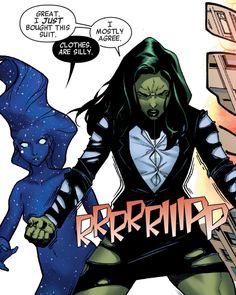 Singularity and She-Hulk, A-Force 1