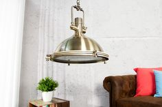 Visiaca lampa INDUSTRIAL 45 cm - bronzová