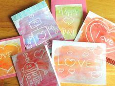 Grow Creative: Watercolor Resist Valentine's Cards