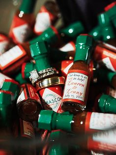 hot sauce wedding favor!