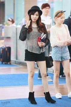 [130520] Tiffany at Incheon Airport Heading to Thailand