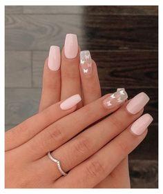 Classy Acrylic Nails, Cute Gel Nails, Acrylic Nails Coffin Short, Cute Acrylic Nail Designs, Square Acrylic Nails, Summer Acrylic Nails, Best Acrylic Nails, Acrylic Nails Pastel, Pastel Pink Nails
