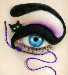 Funny pictures about Awesome eye make up. Oh, and cool pics about Awesome eye make up. Also, Awesome eye make up. Crazy Eye Makeup, Creative Eye Makeup, Eye Makeup Art, Eye Art, Eyeshadow Makeup, Makeup Artistry, Beauty Makeup, Lip Makeup, Dramatic Eyeshadow