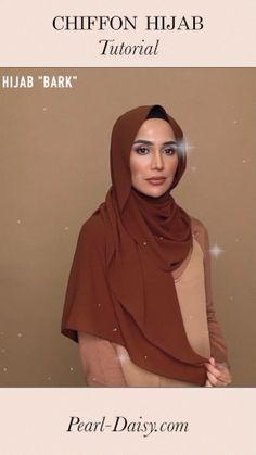 hijabi fashion Amena Khan styles a brown chiffon hijab from Hijab Fashion Summer, Modern Hijab Fashion, Street Hijab Fashion, Hijab Fashion Inspiration, Muslim Fashion, Hijab Fashion Style, Fashion Outfits, Hijab Casual, Simple Hijab