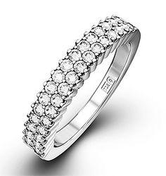 SOPHIE 18K White Gold Diamond ETERNITY RING 1.00CT H/SI - Item JG43-322JUY