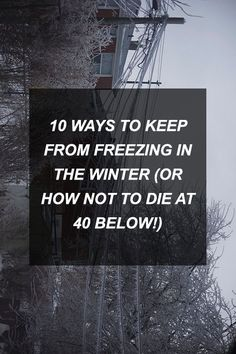 10 Ways to Keep from Freezing in the Winter (or How Not to Die at 40 Below!)   Survival Shelf   Survivalist & Prepper Links