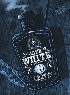 Jack White Poster (Vienna, Austria) by Gary Pullin (via Inside the Rock Poster Frame)