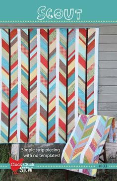 FREE SHIPPING Cluck Cluck Sew Scout Quilt Pattern by CraftyMtnGirl, $8.99