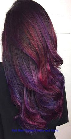 This listing is for a Set of Four 18 long WINE PLUM BURGUNDY galaxy oil slick colored clip-in hair extension. wide and 18 long real human hair extensions -each extension is approximately grams of hair -wefts are doubled, then sewn toget Ombre Hair Color, Hair Color Balayage, Cool Hair Color, Burgundy Hair Ombre, Oil Slick Hair Color, Galaxy Hair Color, Auburn Balayage, Long Purple Hair, Burgundy Hair With Highlights