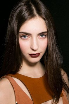 It's official: The vampy '90s lip—half red, half brown—is extending its stay through fall and well into spring. - HarpersBAZAAR.com
