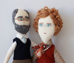 Make grandparent dolls// this looks like marg and peter Pretty Dolls, Beautiful Dolls, Diy Sewing Projects, Cute Little Things, Waldorf Dolls, Textiles, Boy Doll, Soft Dolls, Soft Sculpture