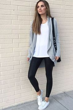 sport chic, casual summer outfits, black s Legging Outfits, Leggings Fashion, Women's Leggings, Winter Leggings, Outfit Jeans, Leggings Outfit Summer Casual, White Leggings Outfit, Tribal Leggings, Leggings Store