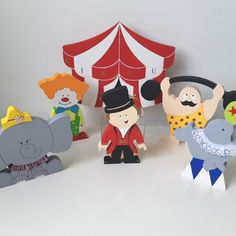 A bright and fun set of circus themed decor. These painted MDF shapes make the perfect shelf decoration for a themed nursery or bedroom offering lots of display options. Circus Nursery, Nursery Themes, Nursery Decor, Twin Baby Rooms, Baby Boy Nurseries, Kids Party Decorations, Party Themes, Gift Wrapping Services, Circus Theme