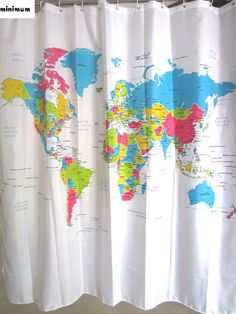 Cynthia rowley new york fabric shower curtain blue floral medallion european polyester shower curtain world map bathroom curtains shower curtains bathroom curtain affiliate gumiabroncs Images
