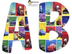 Disney Cars - includes all letters Disney Cars Party, Disney Cars Birthday, Cars Birthday Parties, Disney Pixar Cars, 3rd Birthday, Alphabet Cars, Disney Alphabet, Alphabet Letters, Letter Flashcards