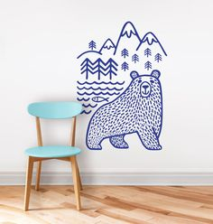 Wall decal / bear/ home decor / wild animal vinyl by DURIDO
