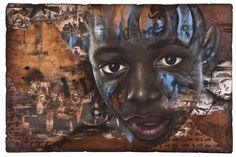 Kivuli  Mixed Media on Wood, 66x44""