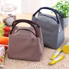 SaicleHome SaicleHome Hand-held Lunch Tote Bag Picnic Cooler Insulated Handbag Waterproof Storage Containers is personalized, see other cheap lunch bags on NewChic. Girls Lunch Bags, Picnic Cooler, Lunch Tote Bag, School Lunch Box, Moda Online, Storage Containers, Organizer, Chic Outfits, Bag Making
