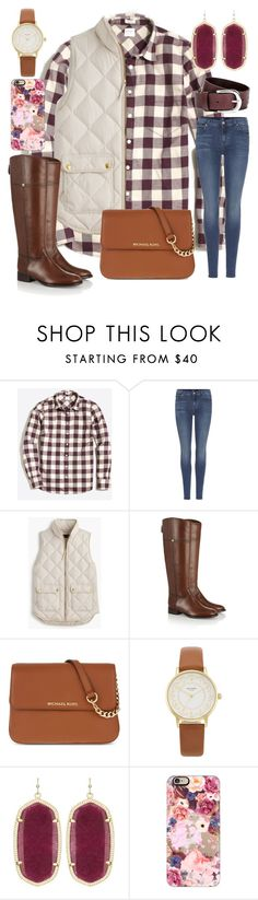 """""""Happy Thanksgiving!!!"""" by ctrygrl1999 ❤ liked on Polyvore featuring J.Crew, 7 For All Mankind, Tory Burch, MICHAEL Michael Kors, Kate Spade, Kendra Scott and Casetify"""