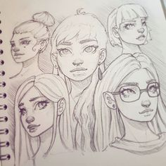 Another page from my sketchbook :-) #drawing #sketchbook #art #instaart #artofinstagram #portrait #face #improvement #photoshop #painting #progress #pencildrawing #doodle