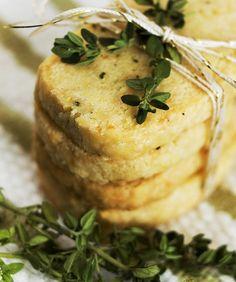 parmesan & thyme crackers by minimallyinvasivenj, via Flickr