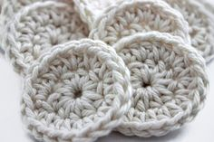 Crocheted Face Scrubby Set  Small Cotton Rounds by TheGreenDaisy