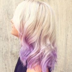Cool Ideas of Lavender Ombre Hair and Purple Ombre lavender+dip+dye+for+platinum+blonde+hairlavender+dip+dye+for+platinum+blonde+hair Light Purple Hair, Purple Ombre, Hair Color Purple, Hair Colors, Pastel Purple, Bright Hair, Pastel Colours, Gold Light, Bright Colors