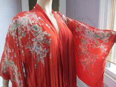 1930s Vintage Boudoir Robe Kimono Beautiful by PaisleyBabylon, $69.00
