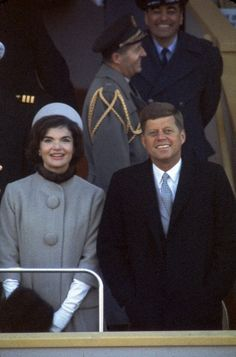 JFK & Jackie during Inauguration Day 1961