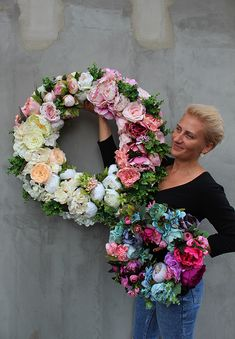 silk flowers wreaths - tenDOM.pl