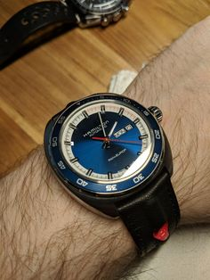 [Hamilton] Pan Europ Back from Service Stylish Watches, Watches For Men, Popular Watches, Designer Watches, Telling Time, Penne, Tack, Omega Watch, Hamilton