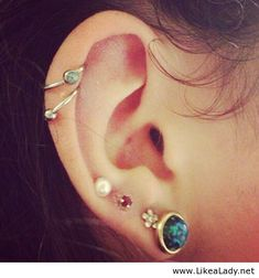 Earrings Pretty Ear Piercings Peircings Body Piercing Tattoo Multiple