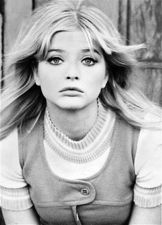 The lovely Ewa Aulin in a super cute jumper and shirt, 1960s.