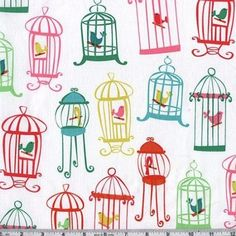 Amazon.com: 45'' Wide Michael Miller Tweet Tweet White Fabric By The Yard: Arts, Crafts & Sewing