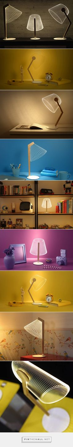 New 3D Optical Illusion Lamps by Studio Cheha – Fubiz Media - created via http://pinthemall.net
