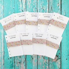 These inserts fits the Pocket Size Planners, including the Small Size Kikki K planners the finished size is 3.25x 4.75.  Perfect for a personal planner size wallet.  Instant Download $12.95.  ChristyTomlinson on Etsy.
