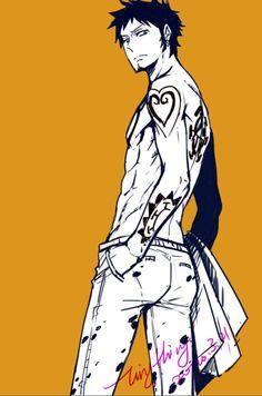 Trafalgar D. Water Law One piece art orange Nico Robin, One Piece Fanart, One Piece Anime, Zoro, Chibi, One Piece Series, The Pirate King, One Piece Pictures, 0ne Piece