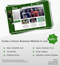 #Professional #web #design in natural green with replacable background.  Recommended for: #Sports, #Chemicals, #Doctors, #Tour and #travels, #Construction, #Hotels and #Restaurants, #NGOs, #Schools, #Astrology, #PestControl, #Gym, #Automobiles  #Eleiss template a031