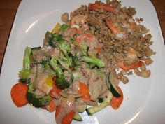 A Mom Cooking Paleo & Gluten Free Recipes for the Family: Shrimp Fried Rice with Veggies & Coconut Sauce